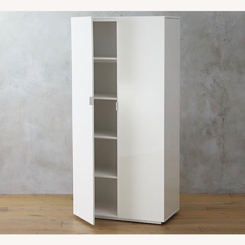 CB2 High White Wall Storage Cabinet - image-7