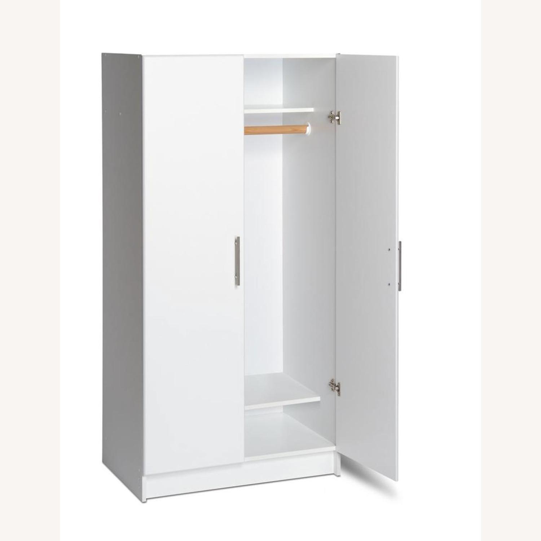 CB2 High White Wall Storage Cabinet - image-3