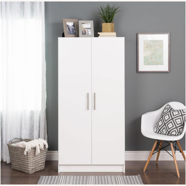 CB2 High White Wall Storage Cabinet - image-5