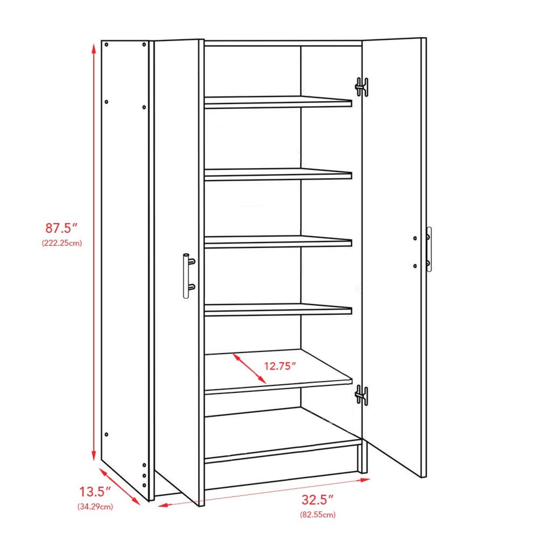 CB2 High White Wall Storage Cabinet - image-6