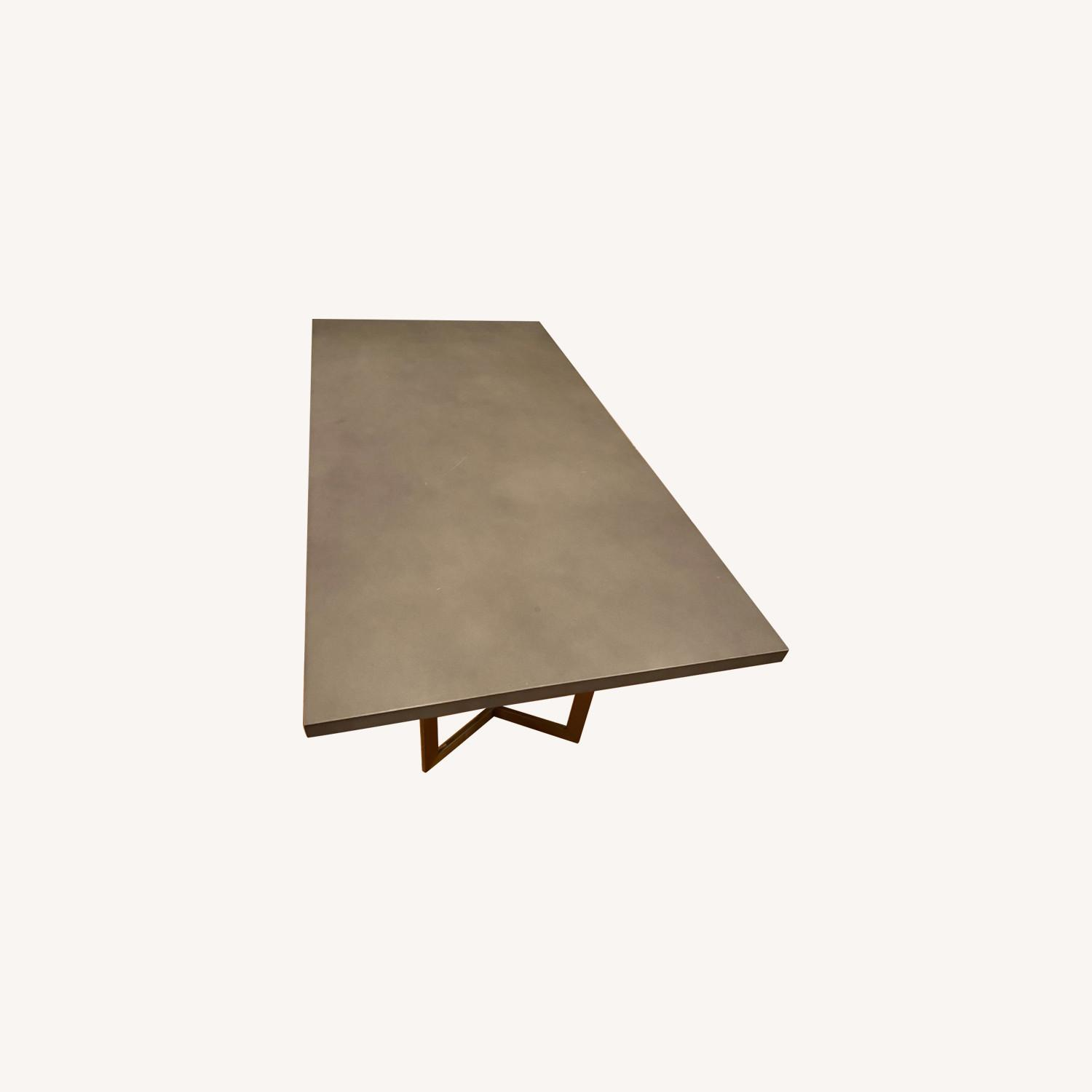 West Elm Tower Dining Table Concrete - image-0
