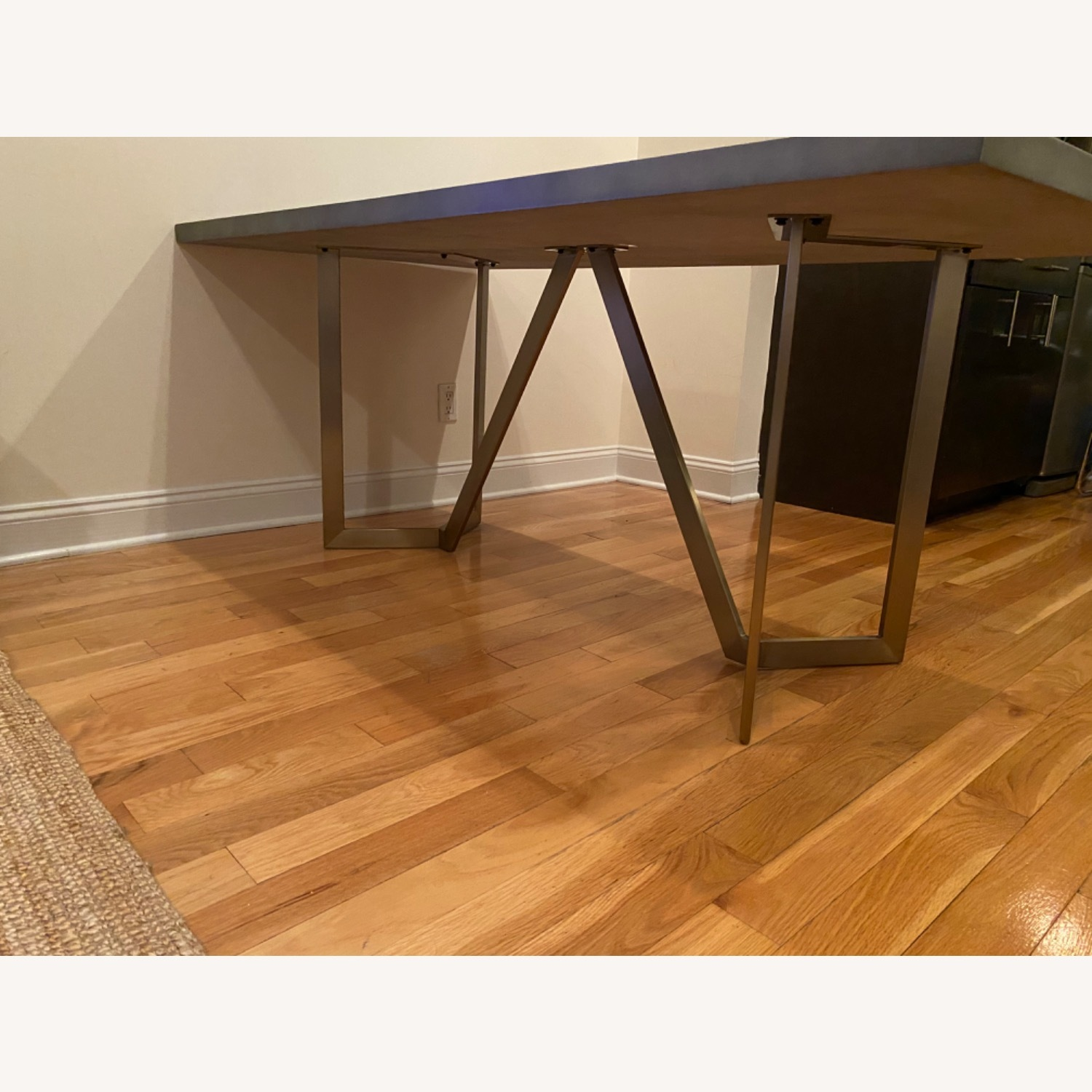 West Elm Tower Dining Table Concrete - image-2