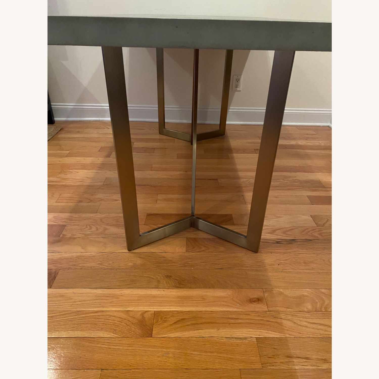 West Elm Tower Dining Table Concrete - image-3