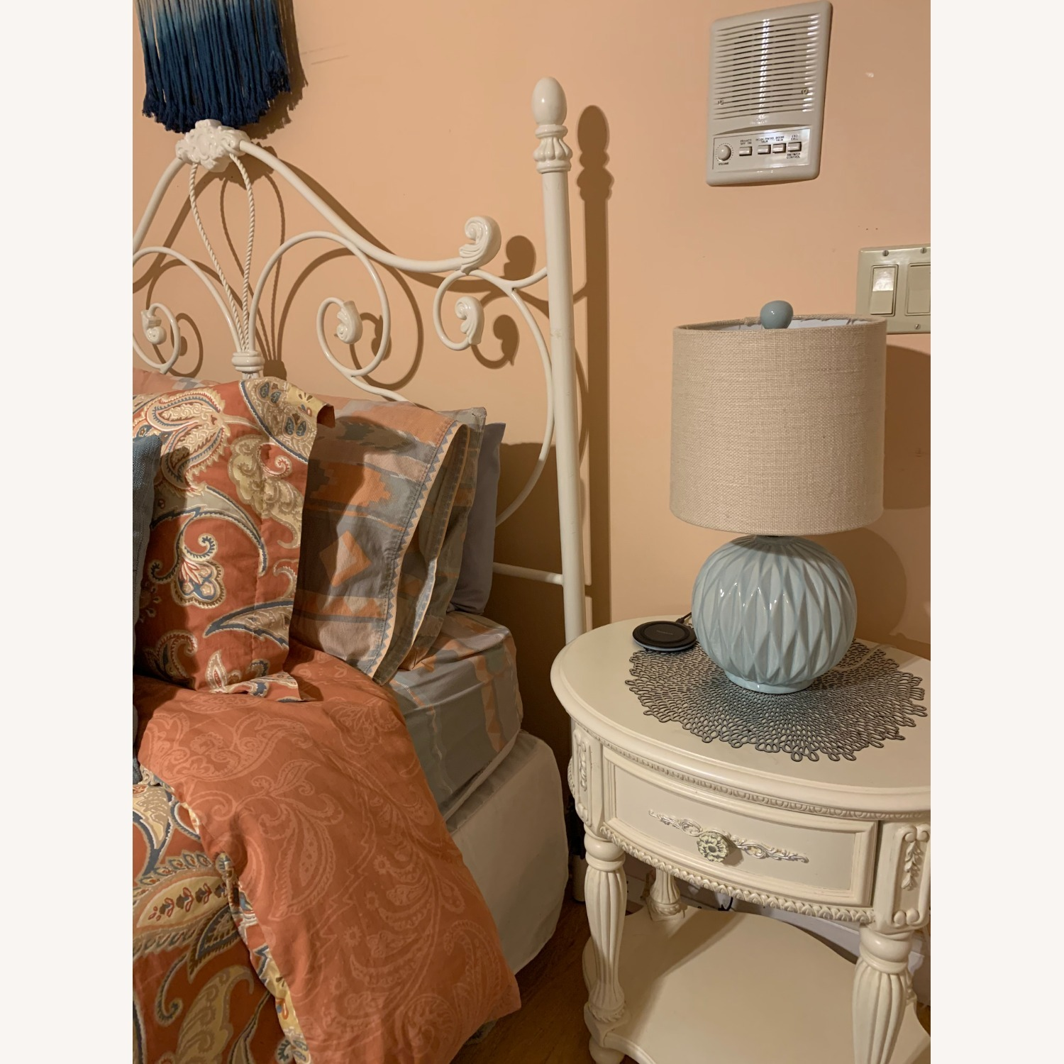 Metal Head and Footboard for Queen Bed - image-4