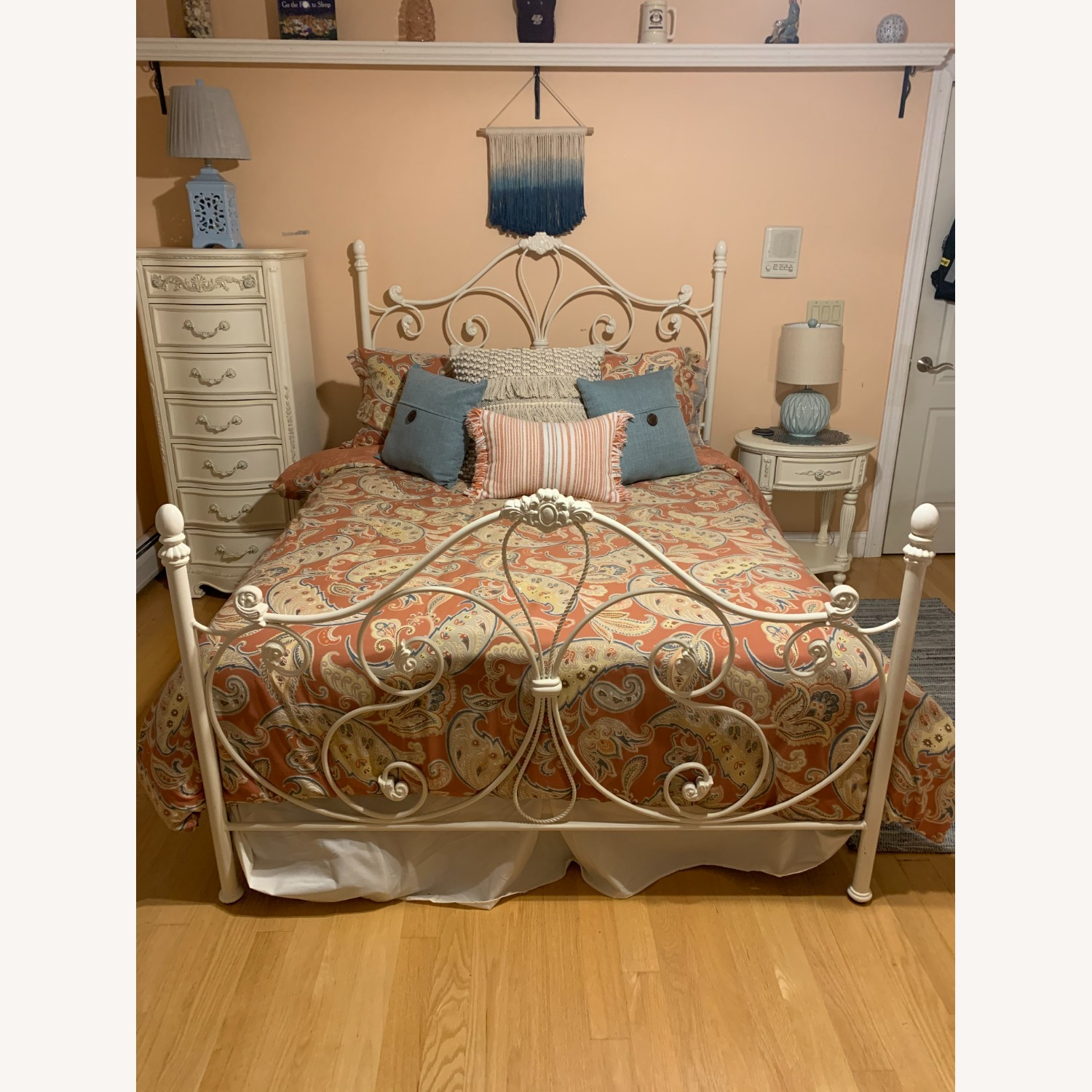 Metal Head and Footboard for Queen Bed - image-1