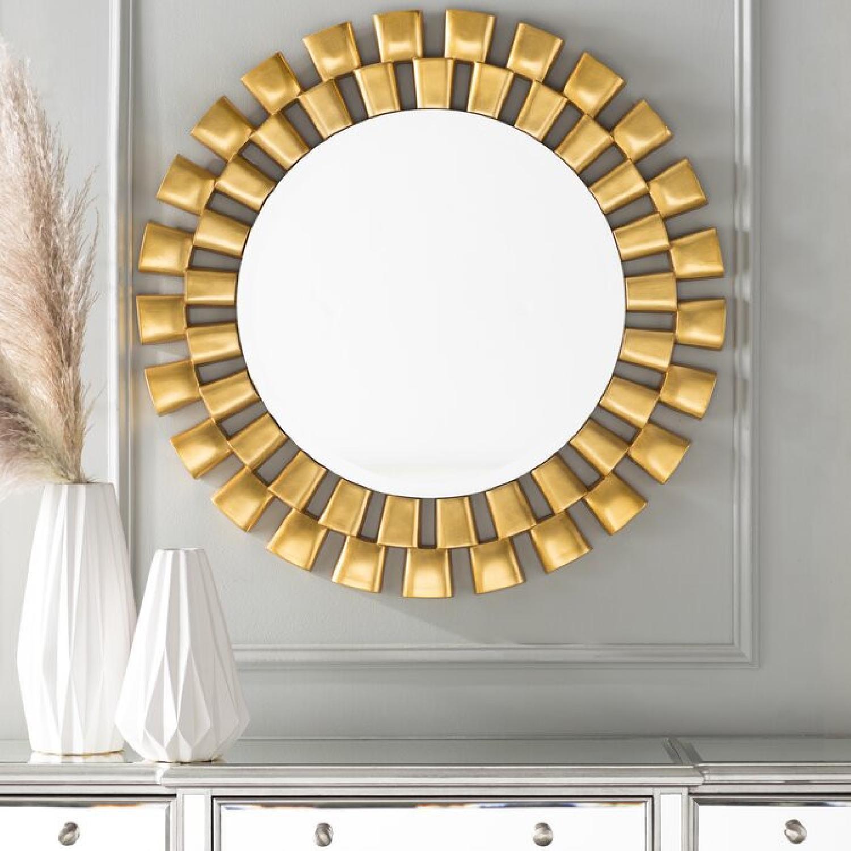 Wayfair Gold Sunburst Round Wall Mirror - image-4