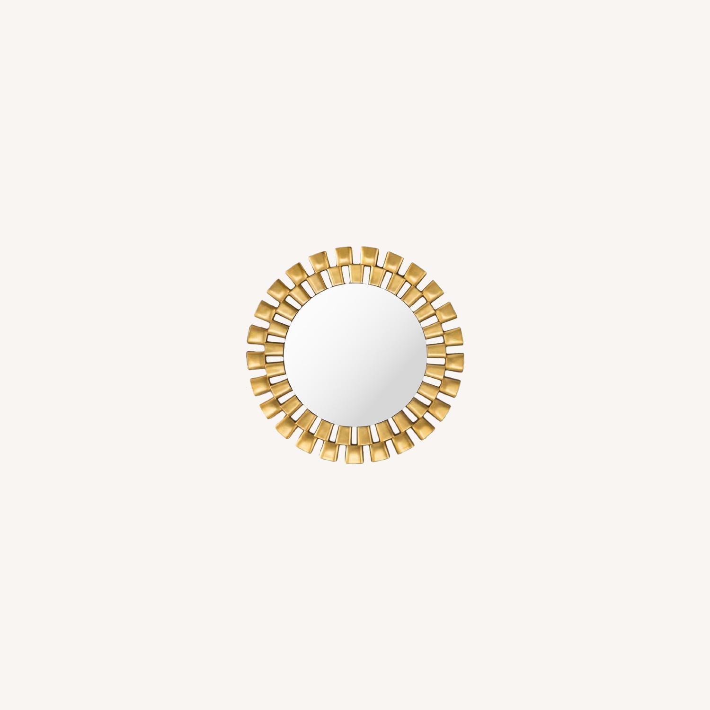 Wayfair Gold Sunburst Round Wall Mirror - image-0