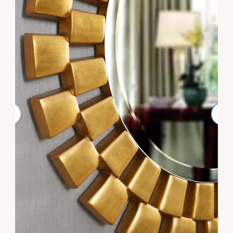 Wayfair Gold Sunburst Round Wall Mirror - image-2
