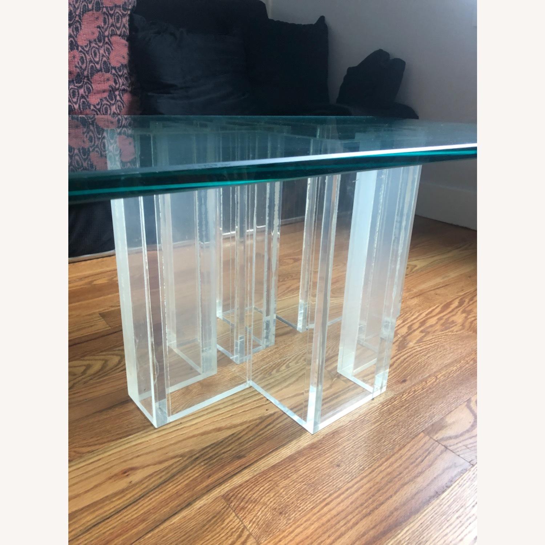 1970 Glass Coffee Table - image-1