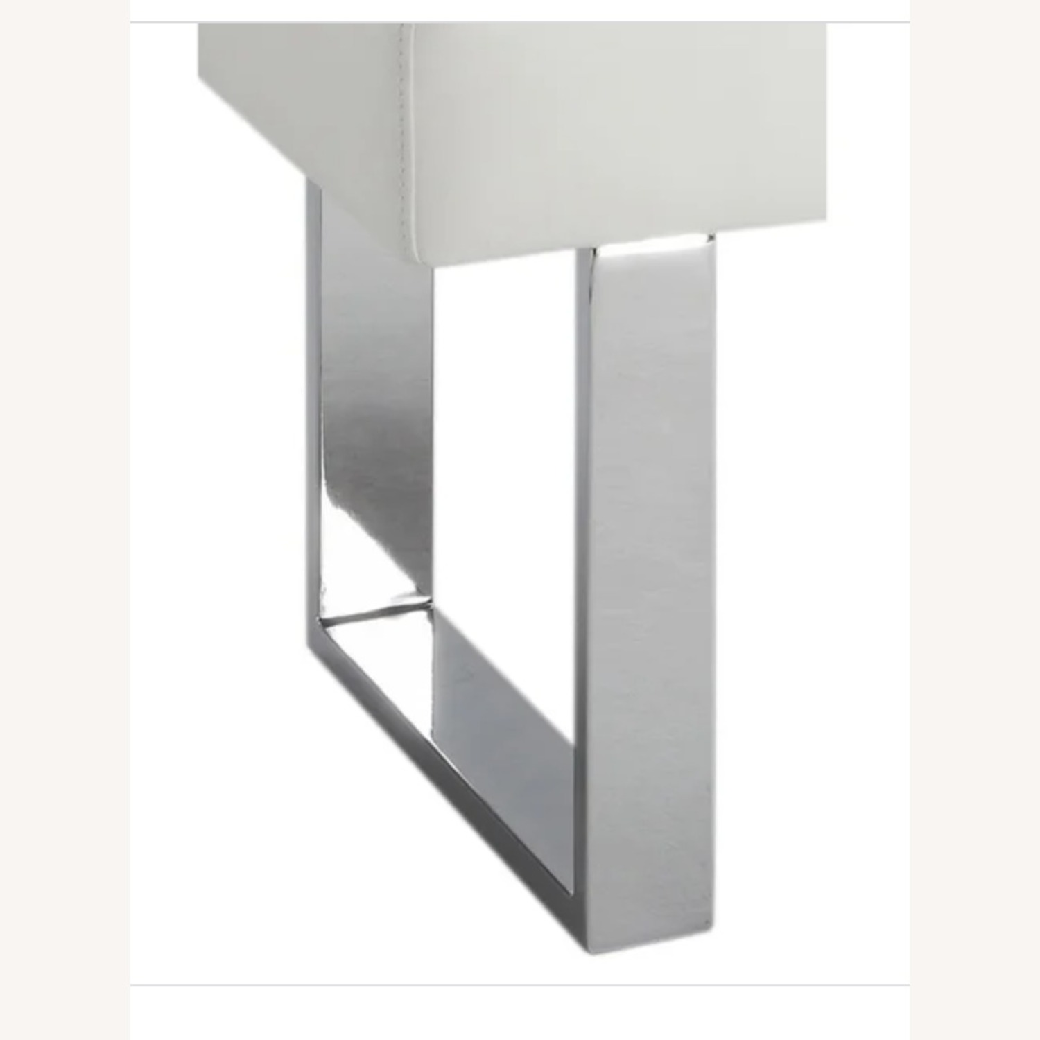 White Benches with Stainless Steel Legs - image-2