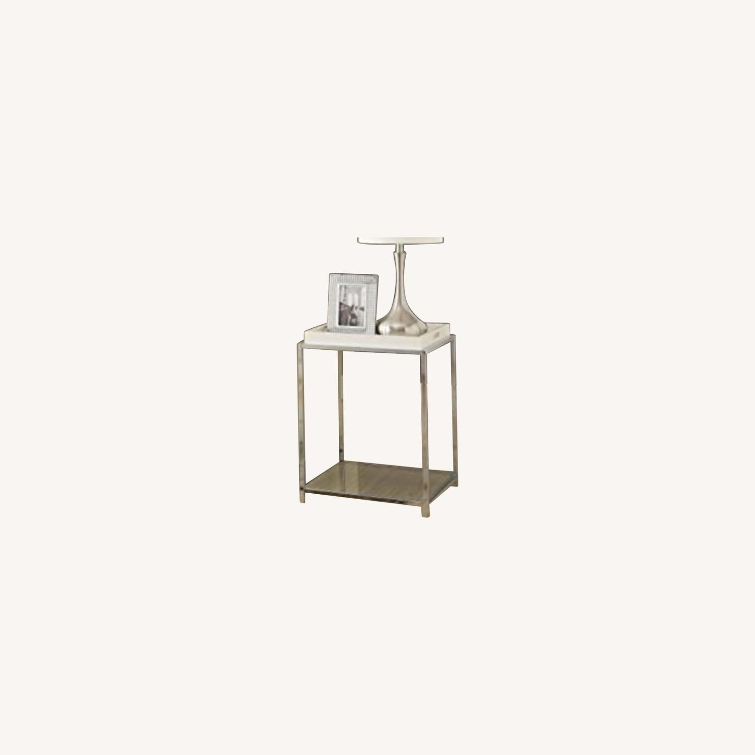 Convenience Concepts Glass & Metal Square Side Table - image-0