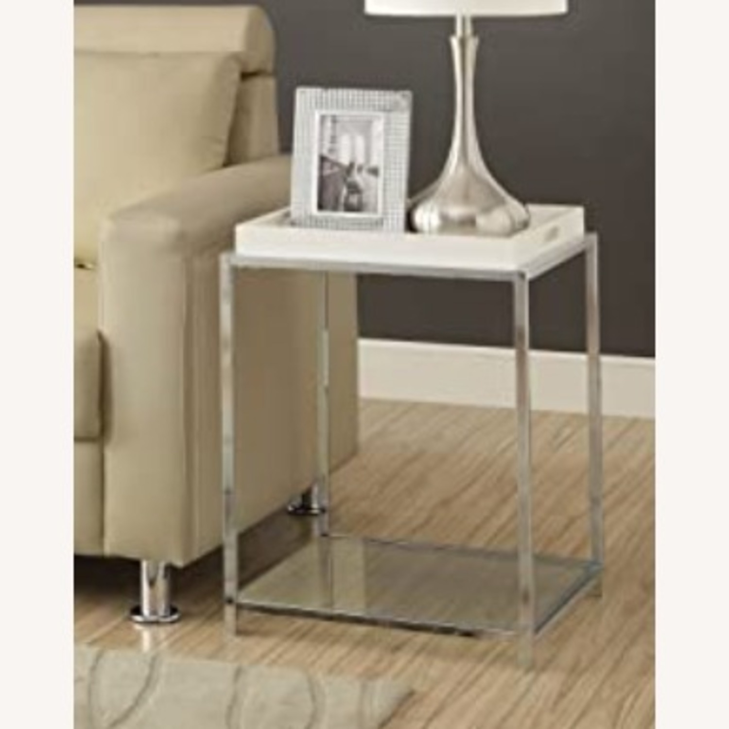Convenience Concepts Glass & Metal Square Side Table - image-2
