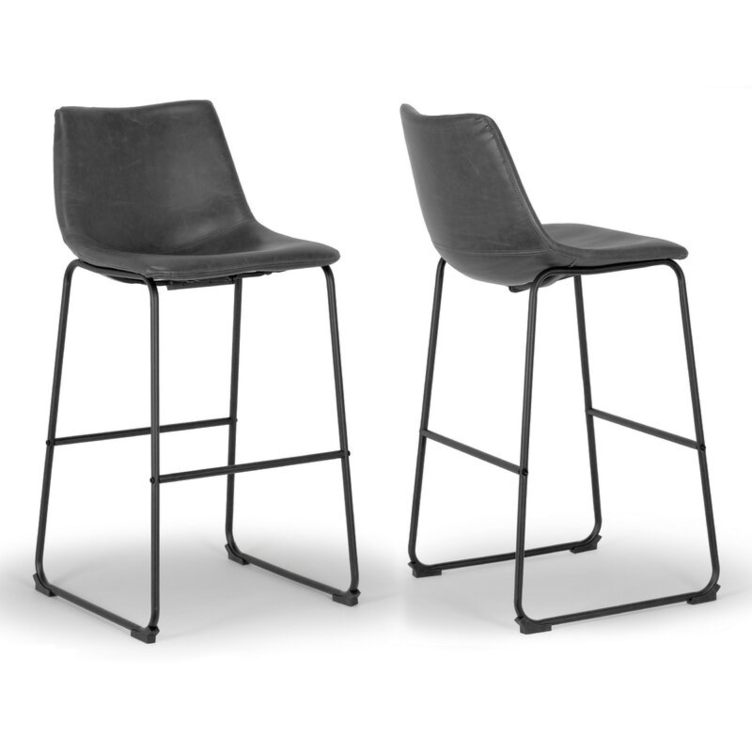 Wayfair Faux Leather Bar Stools - image-1