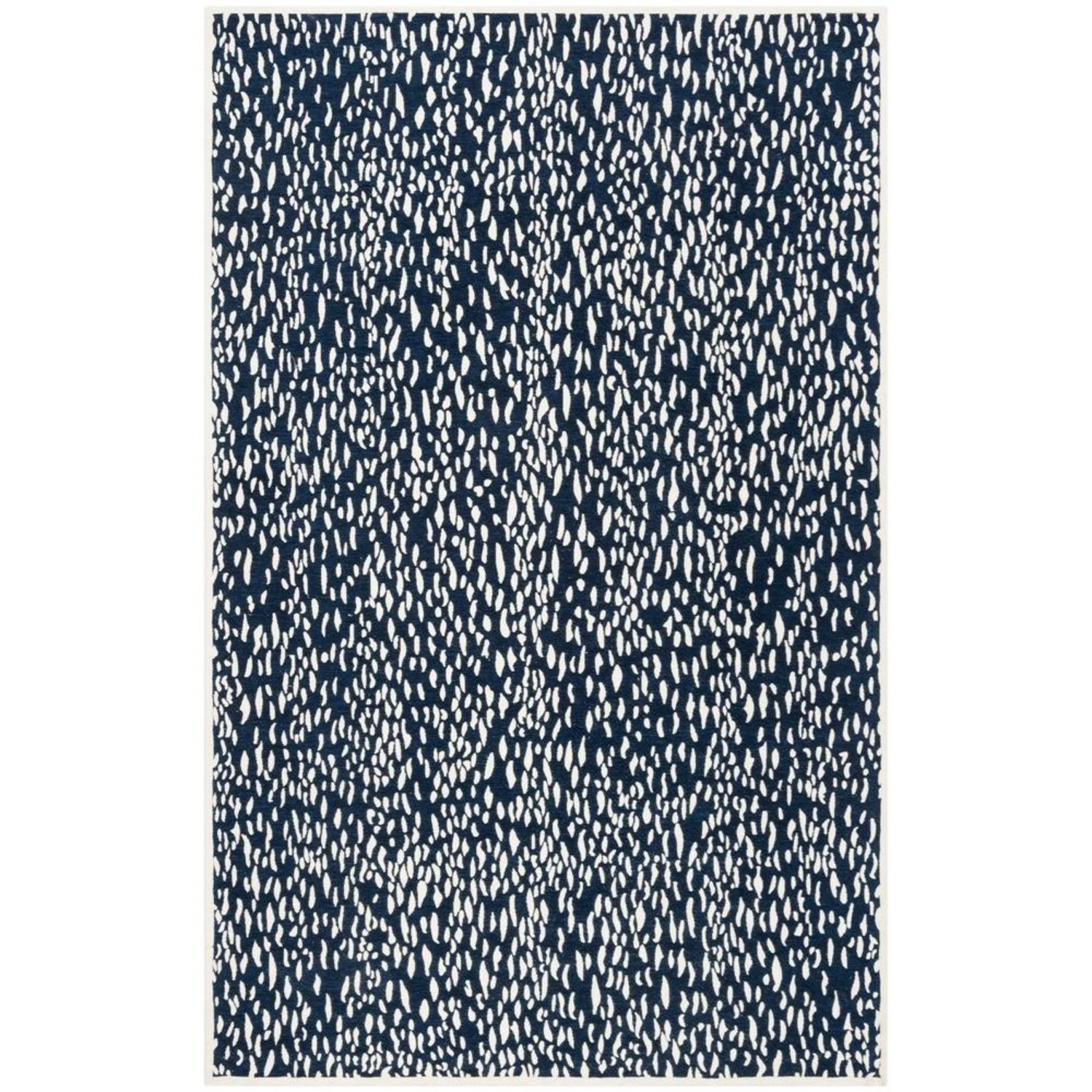 Safavieh Navy Blue and Ivory Area Rug - image-4