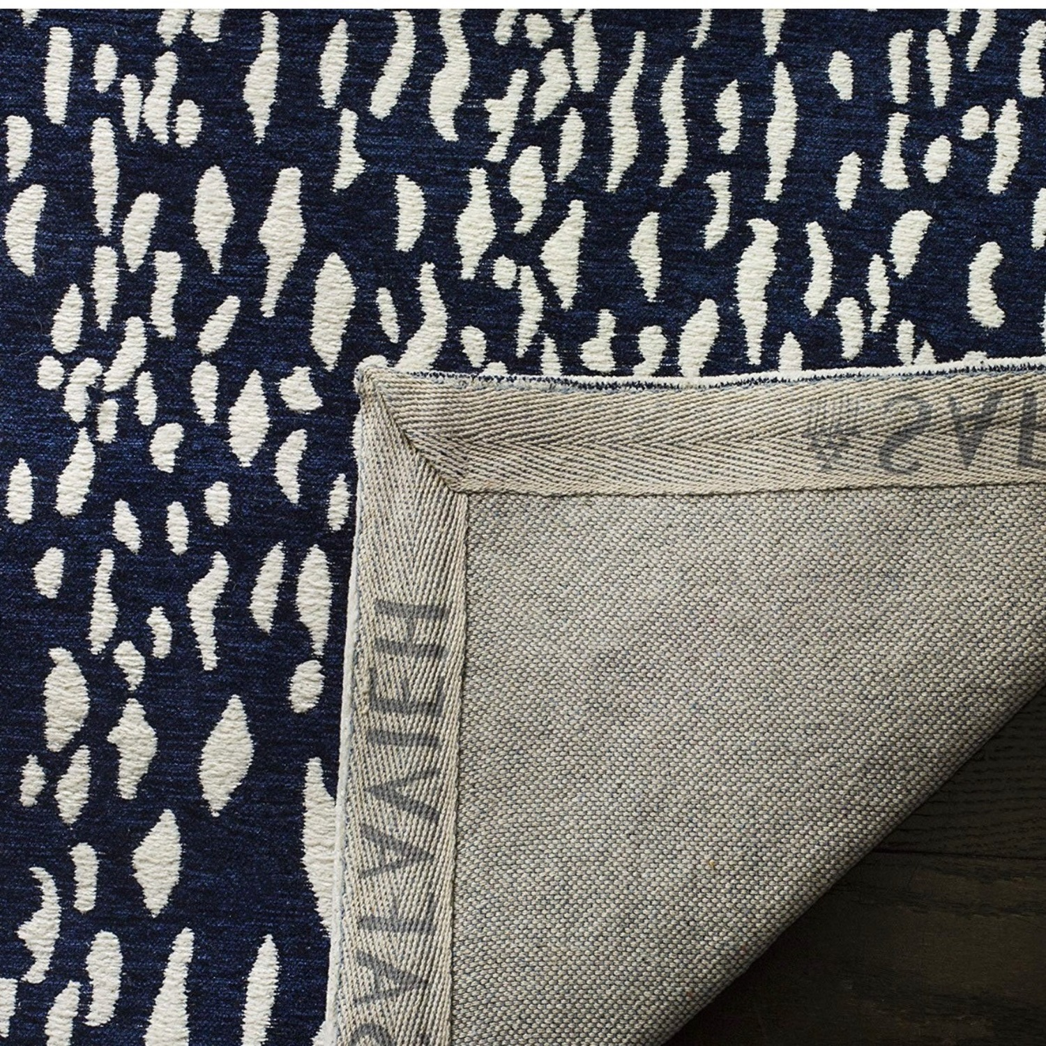 Safavieh Navy Blue and Ivory Area Rug - image-3