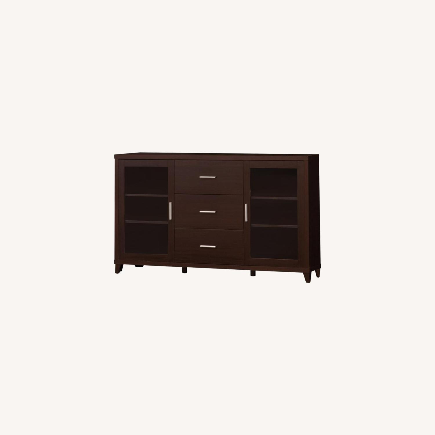 TV Console In Cappuccino Finish W/ Storage Drawers - image-4