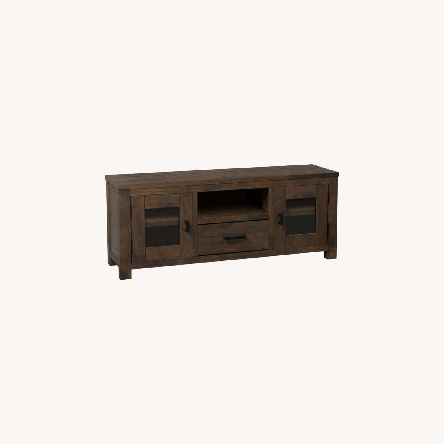 75-Inch TV Console In Rustic Golden Brown - image-3