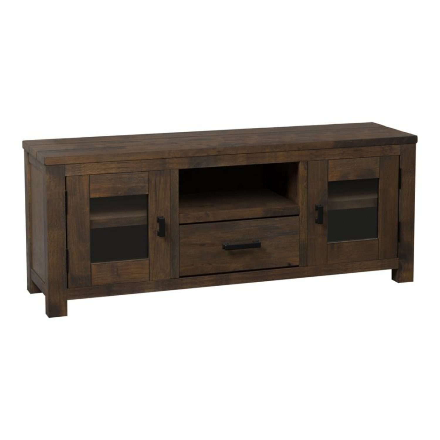 75-Inch TV Console In Rustic Golden Brown - image-0