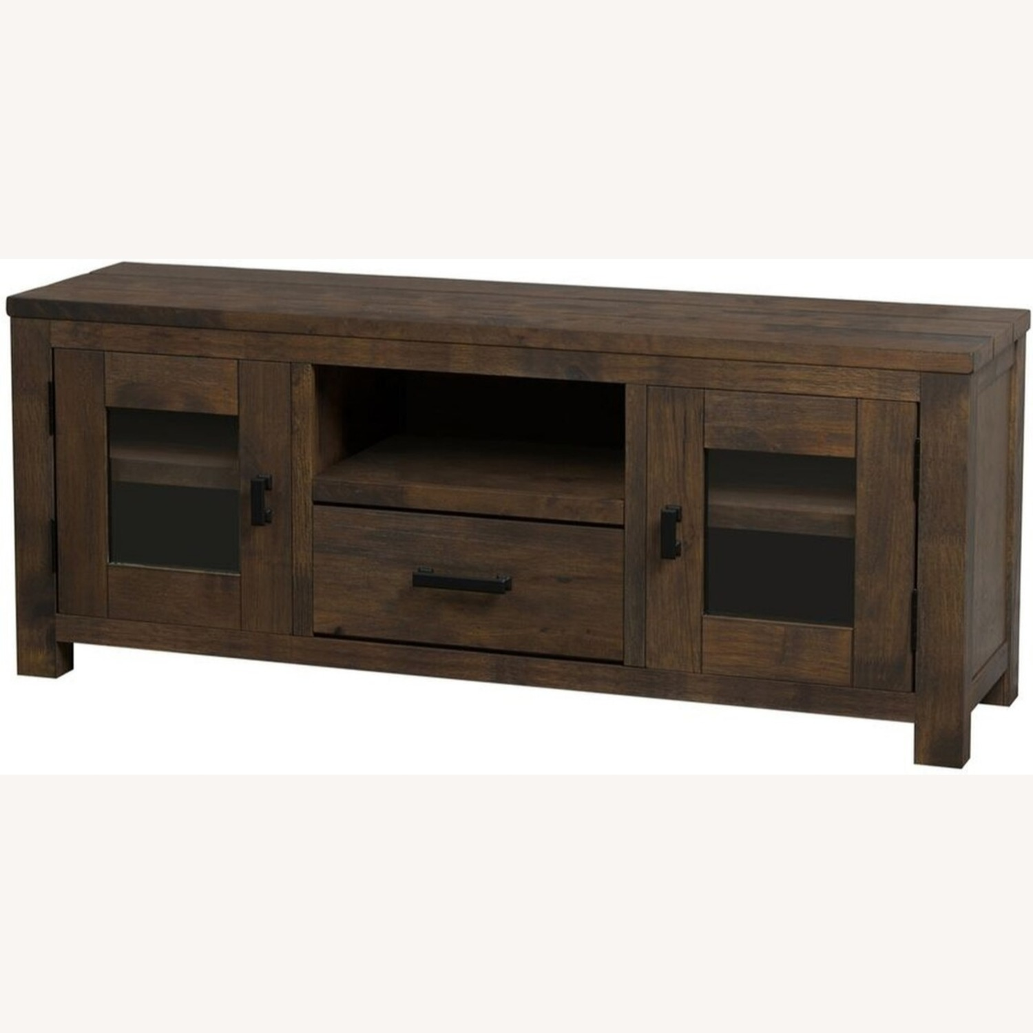 75-Inch TV Console In Rustic Golden Brown - image-1