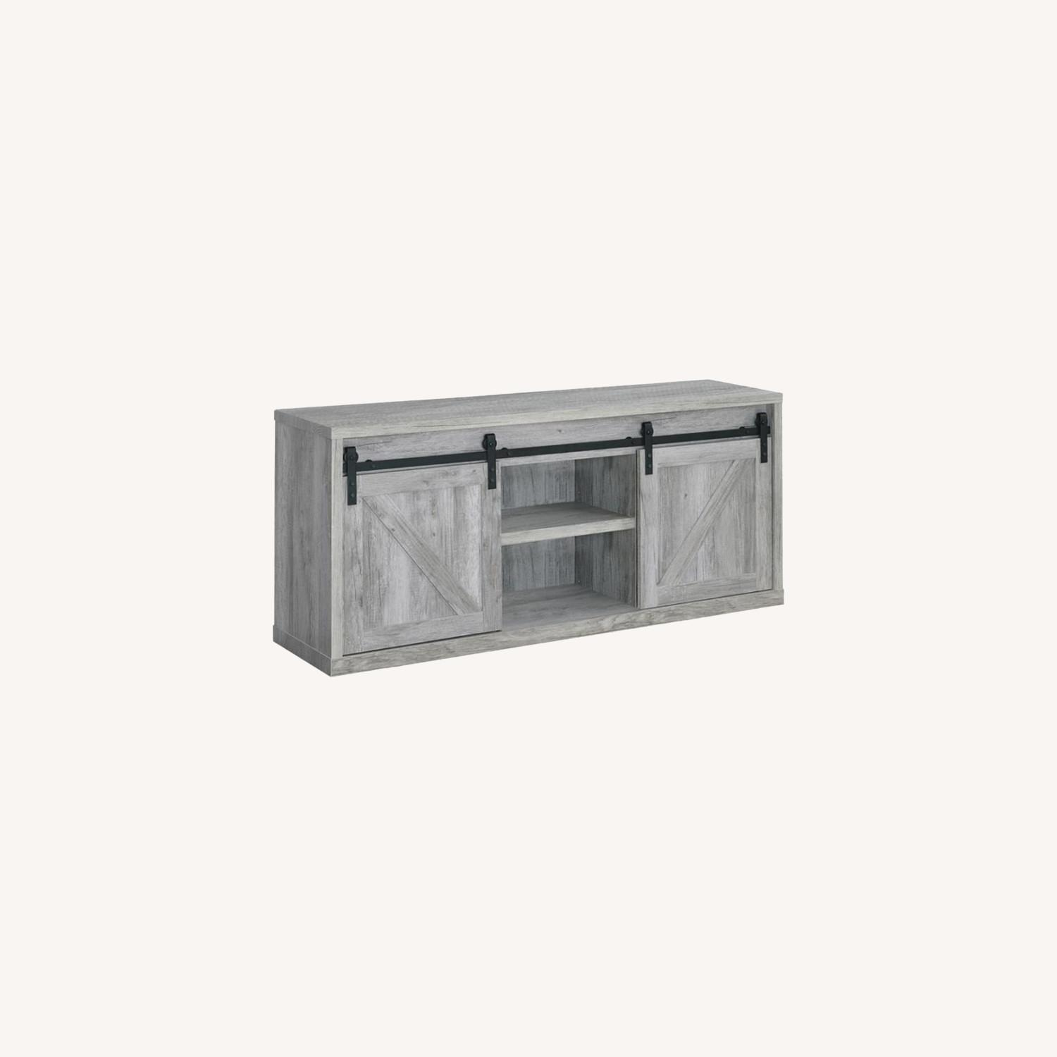 59-Inch TV Console In Grey Driftwood Finish - image-3