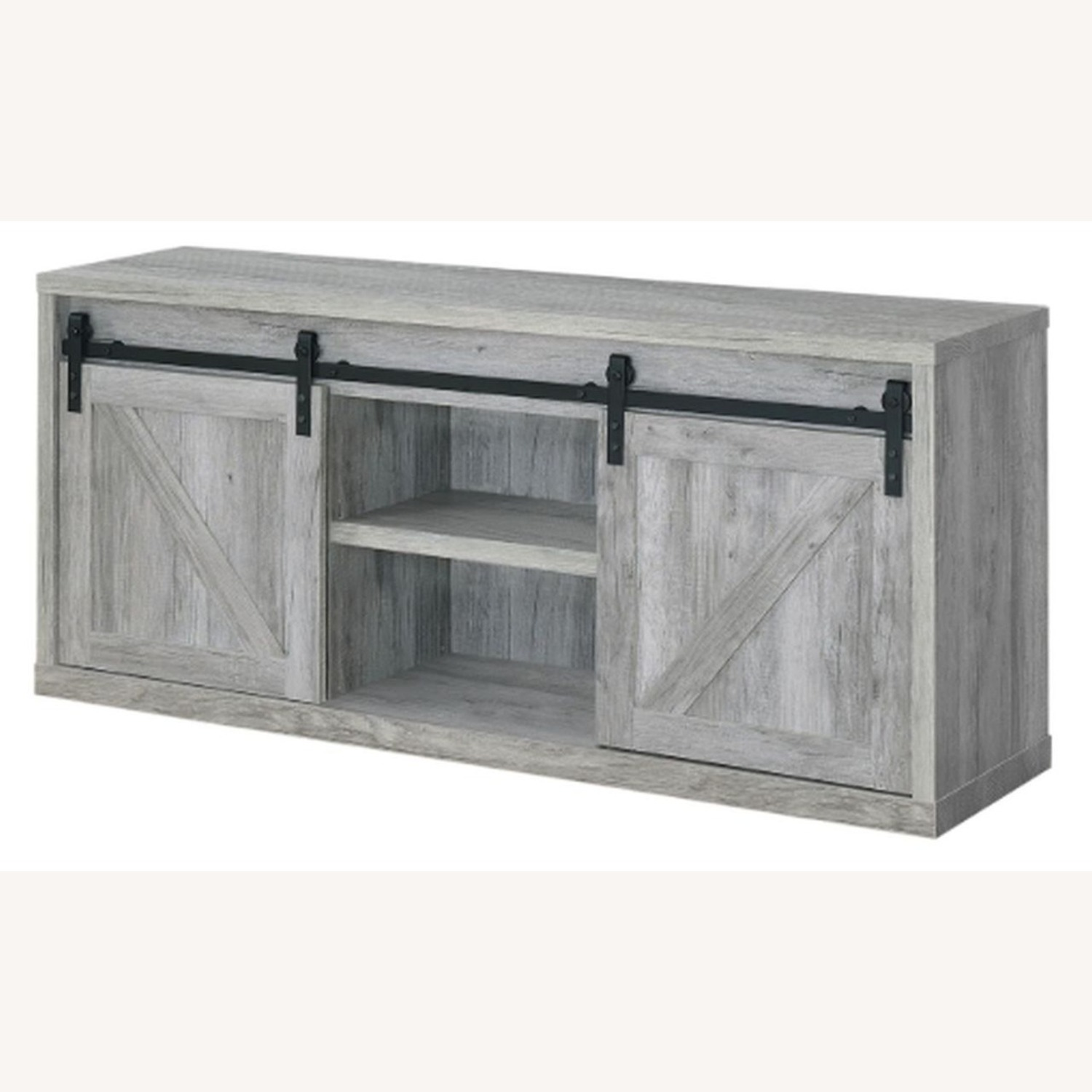 59-Inch TV Console In Grey Driftwood Finish - image-1