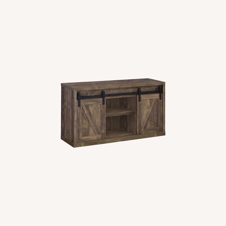 48-Inch Tv Console In Rustic Oak Finish - image-3