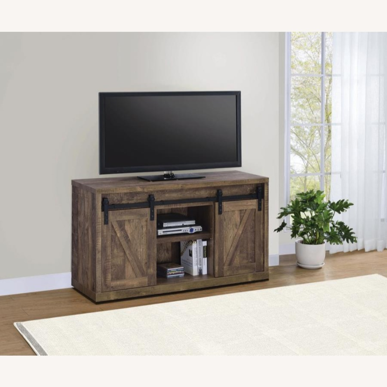 48-Inch Tv Console In Rustic Oak Finish - image-2