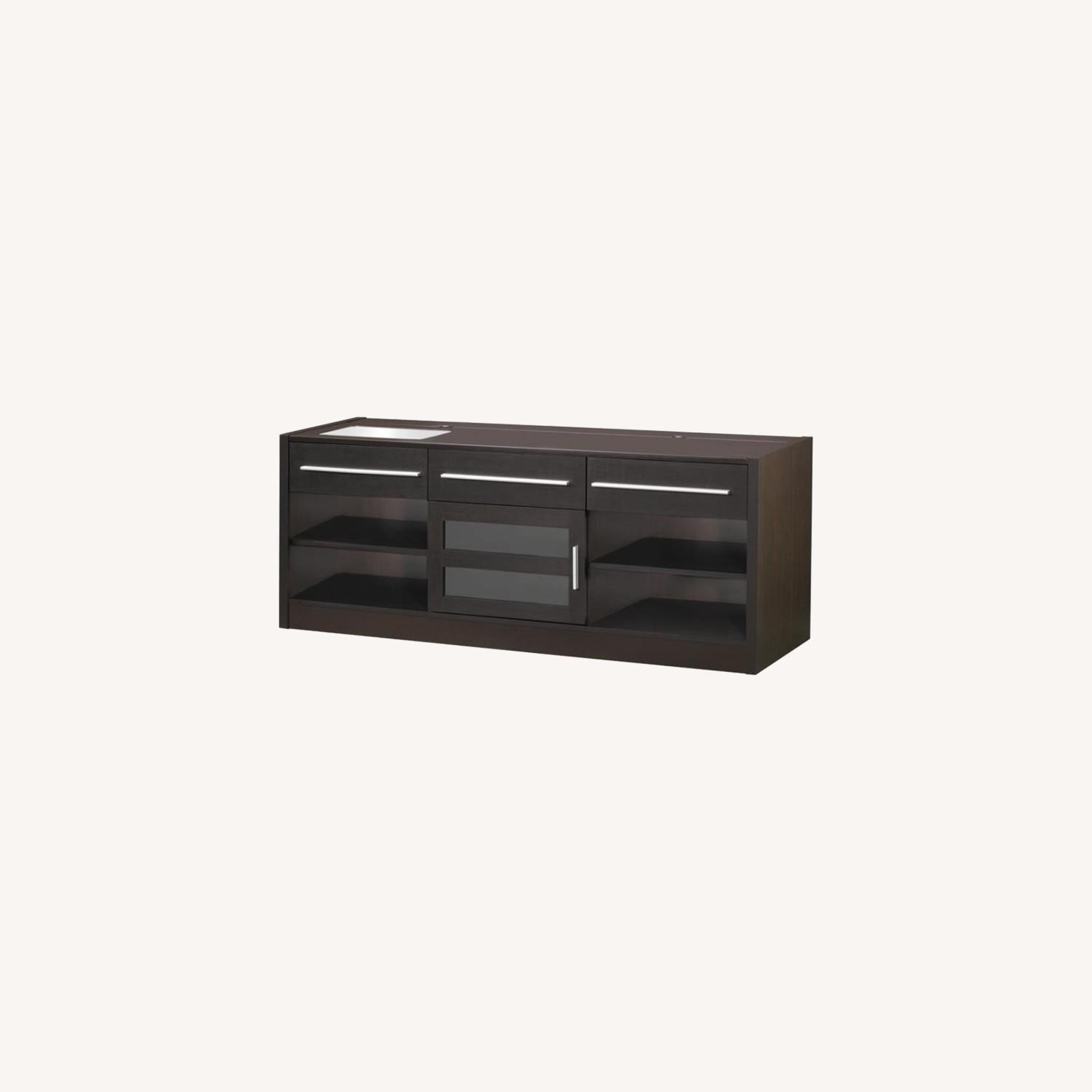 60-Inch Connect-It TV Console In Cappuccino Finish - image-3