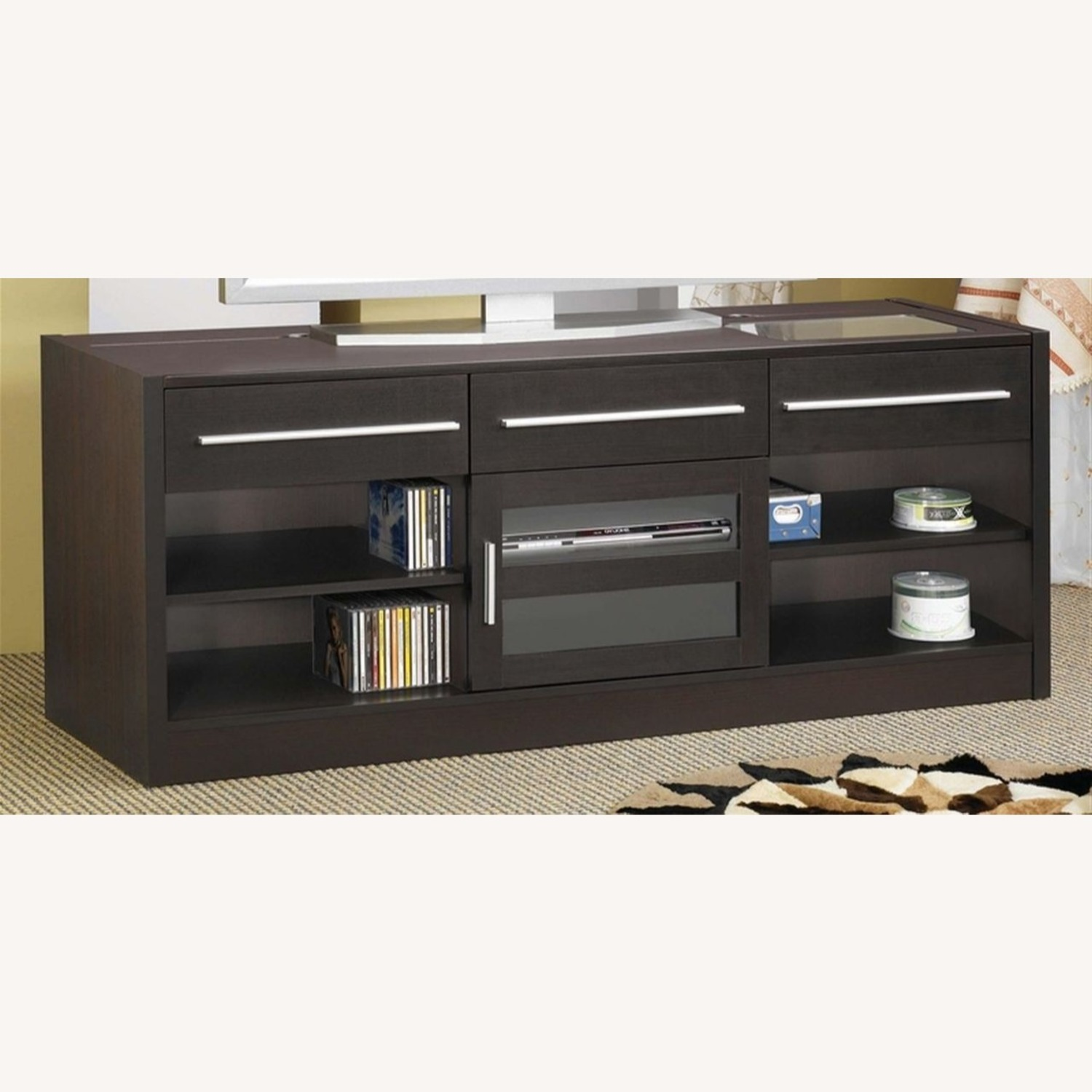60-Inch Connect-It TV Console In Cappuccino Finish - image-1