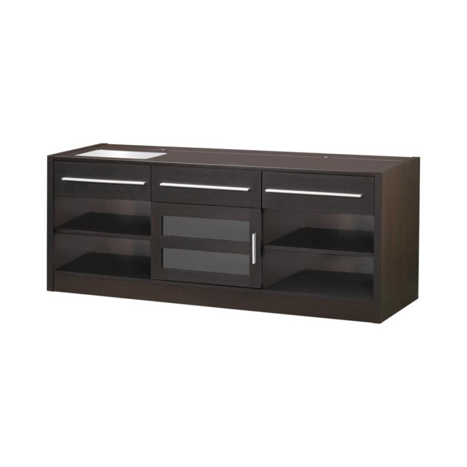60-Inch Connect-It TV Console In Cappuccino Finish - image-0