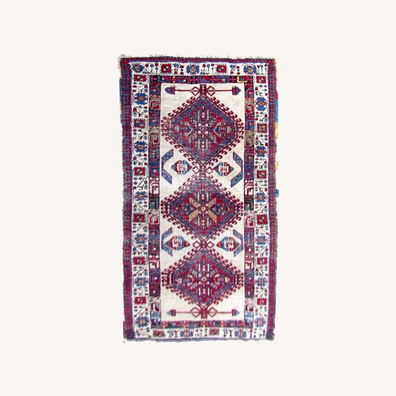 Handmade Antique Persian Seraband Distressed Rug - image-0