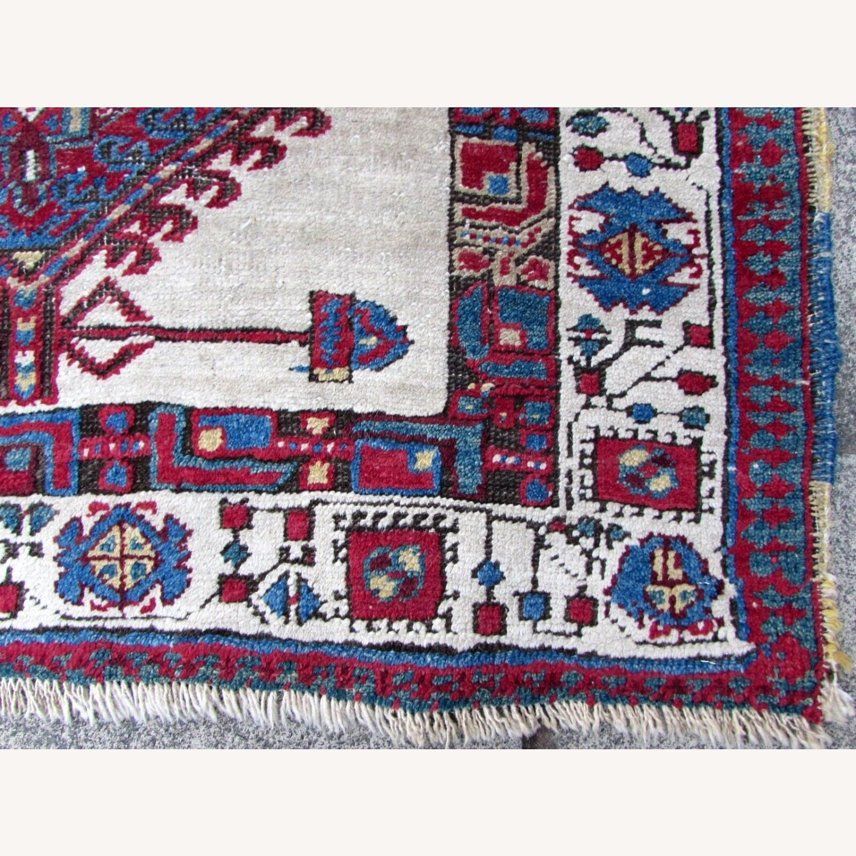Handmade Antique Persian Seraband Distressed Rug - image-7