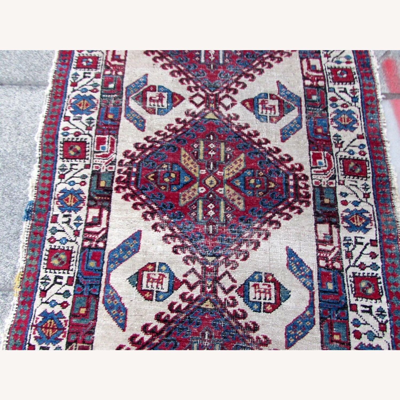 Handmade Antique Persian Seraband Distressed Rug - image-9