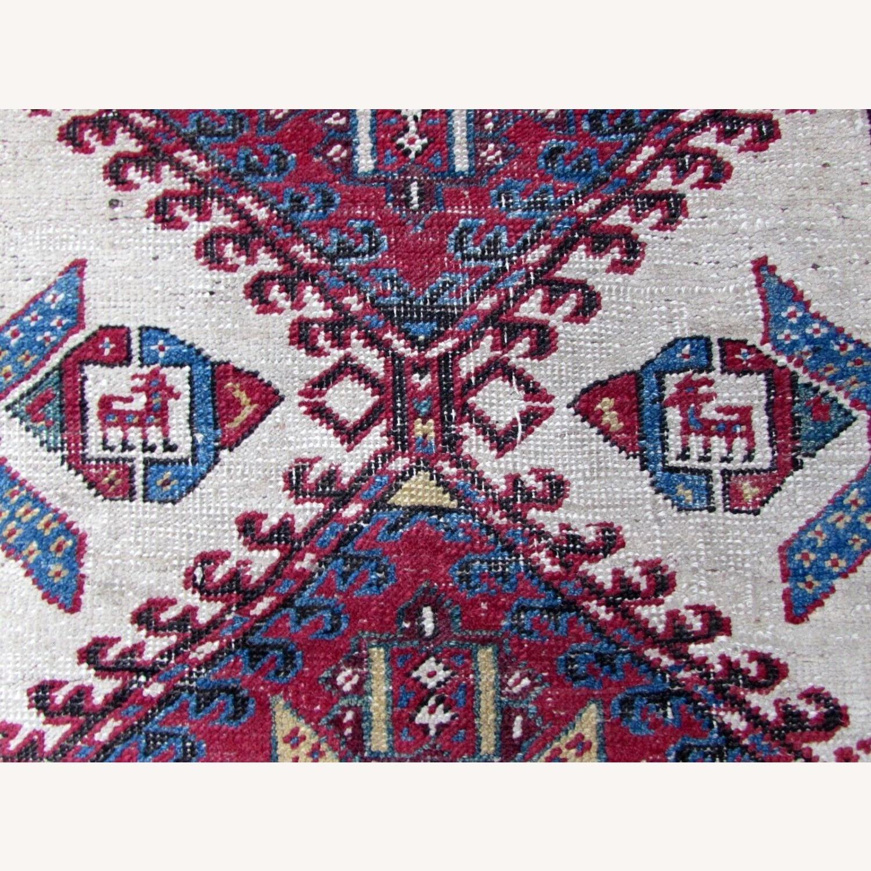 Handmade Antique Persian Seraband Distressed Rug - image-3