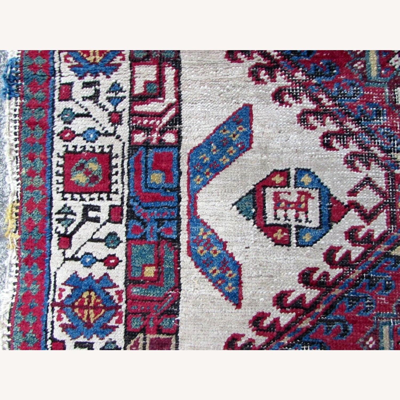 Handmade Antique Persian Seraband Distressed Rug - image-4