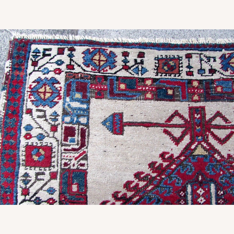 Handmade Antique Persian Seraband Distressed Rug - image-11