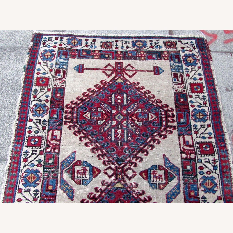 Handmade Antique Persian Seraband Distressed Rug - image-8