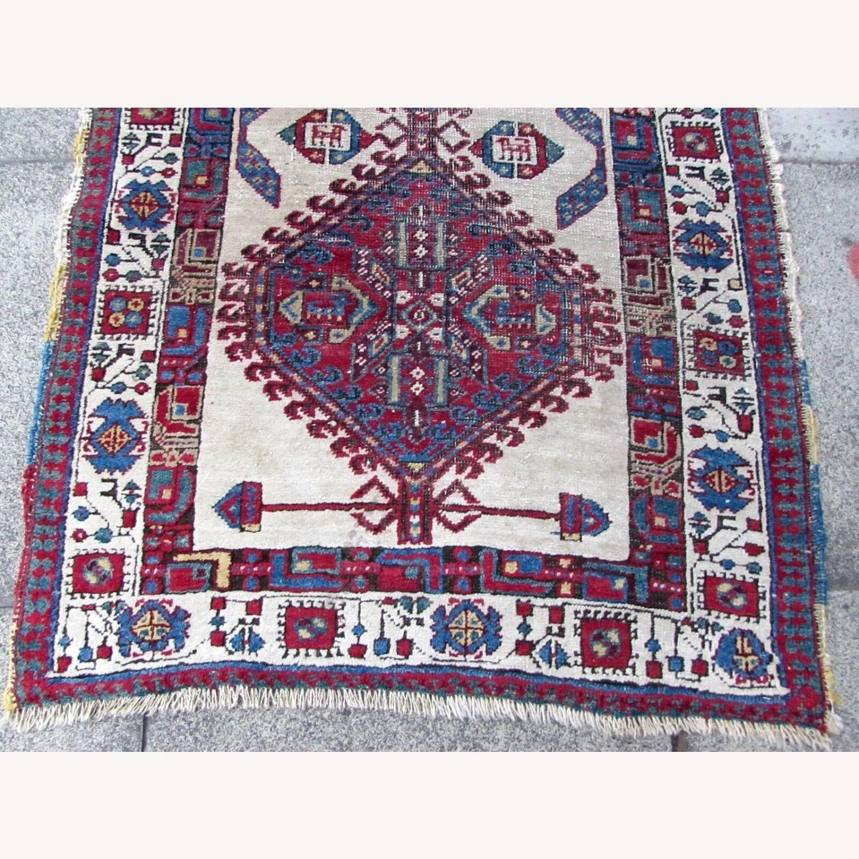 Handmade Antique Persian Seraband Distressed Rug - image-10