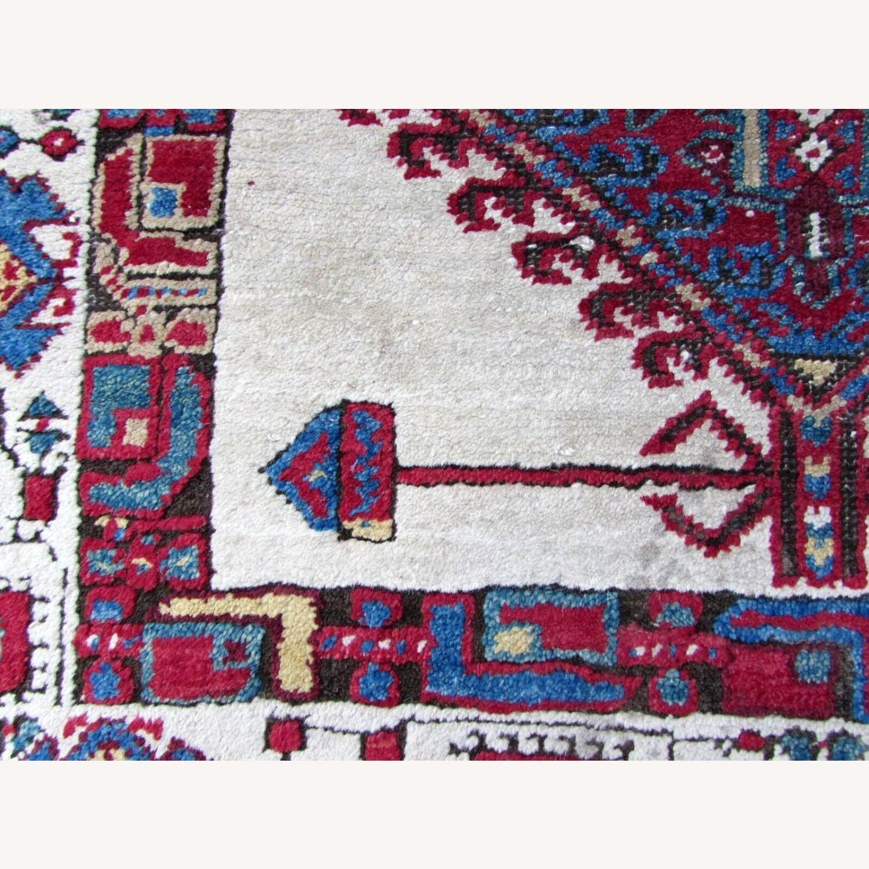 Handmade Antique Persian Seraband Distressed Rug - image-6