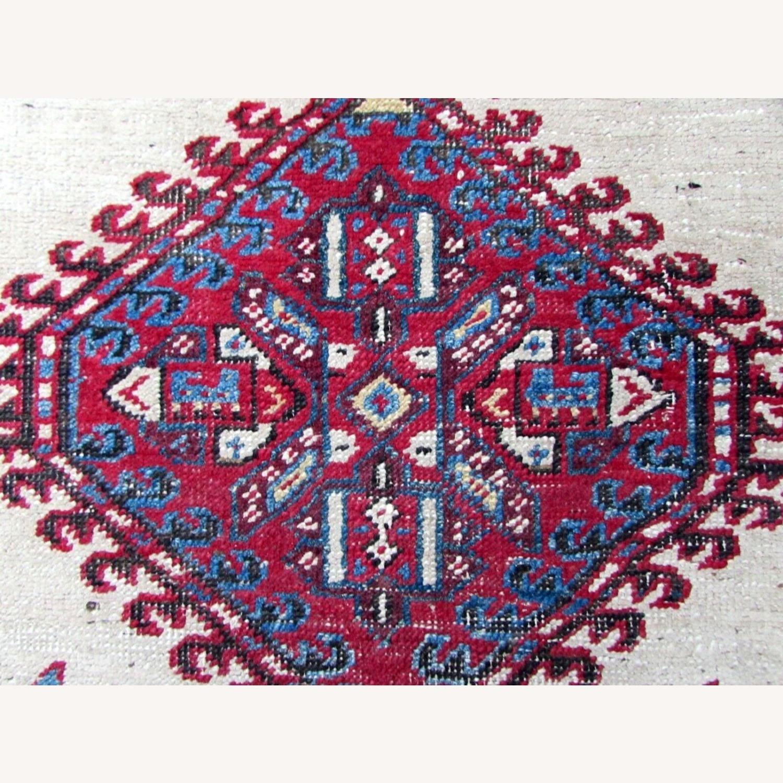 Handmade Antique Persian Seraband Distressed Rug - image-1