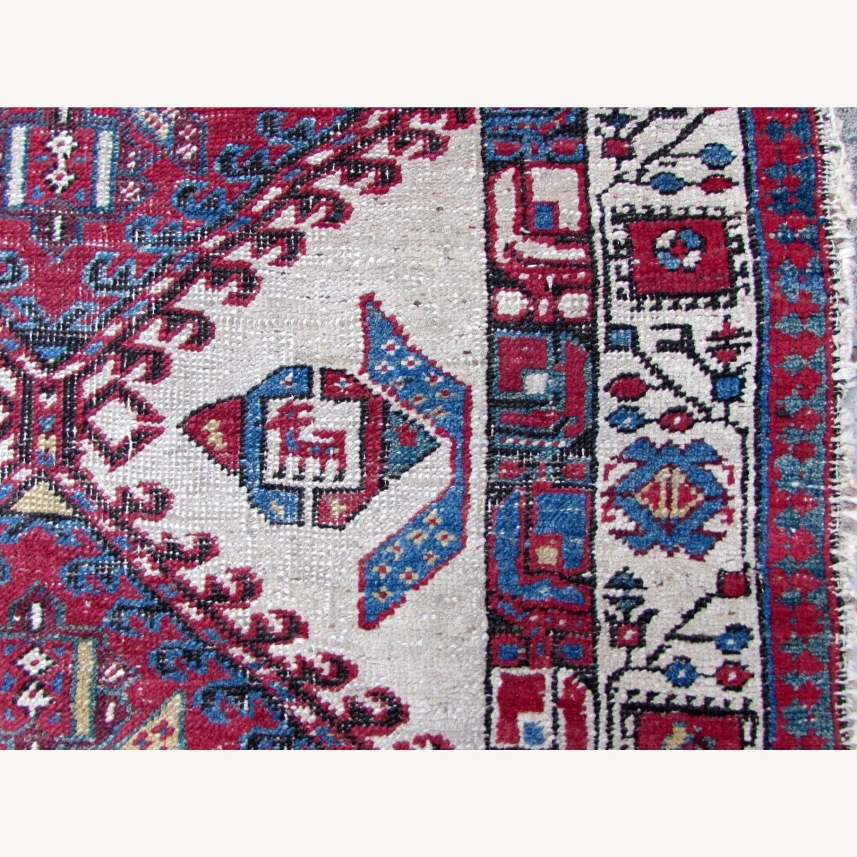 Handmade Antique Persian Seraband Distressed Rug - image-2