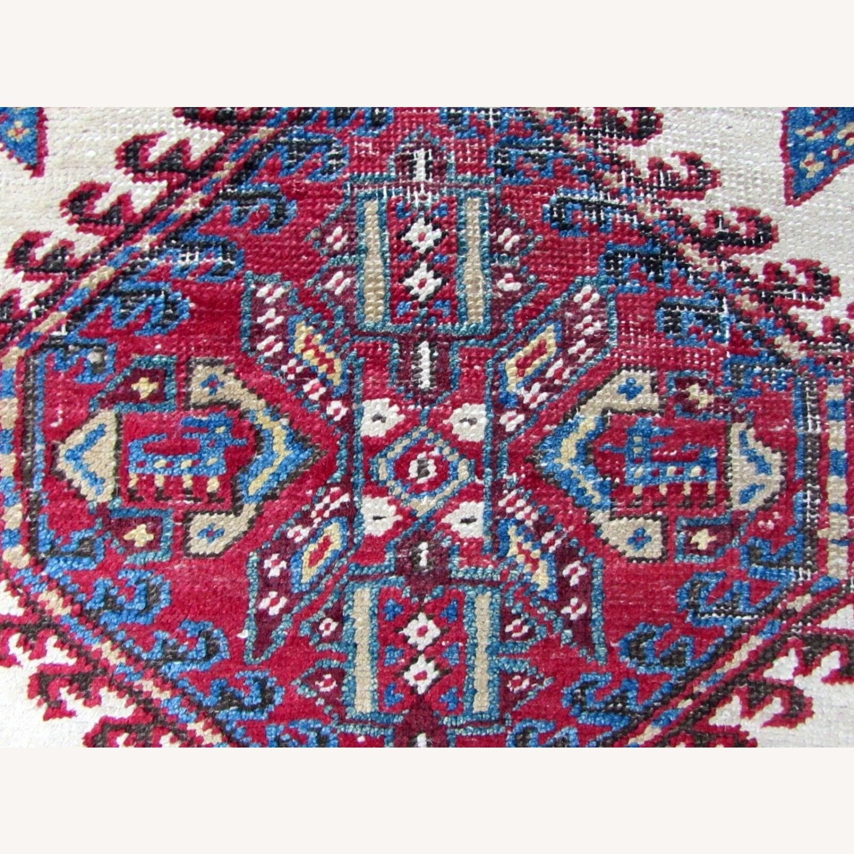 Handmade Antique Persian Seraband Distressed Rug - image-5