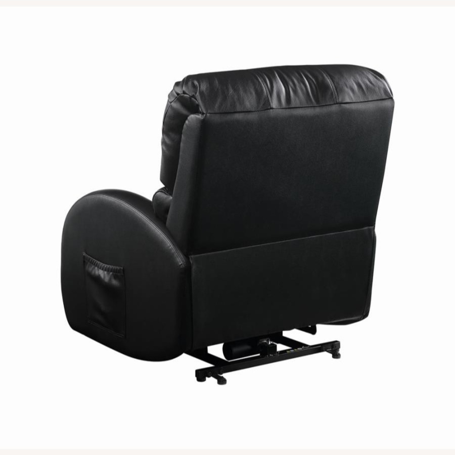 Power Lift Recliner In Black Top Grain Leather - image-6