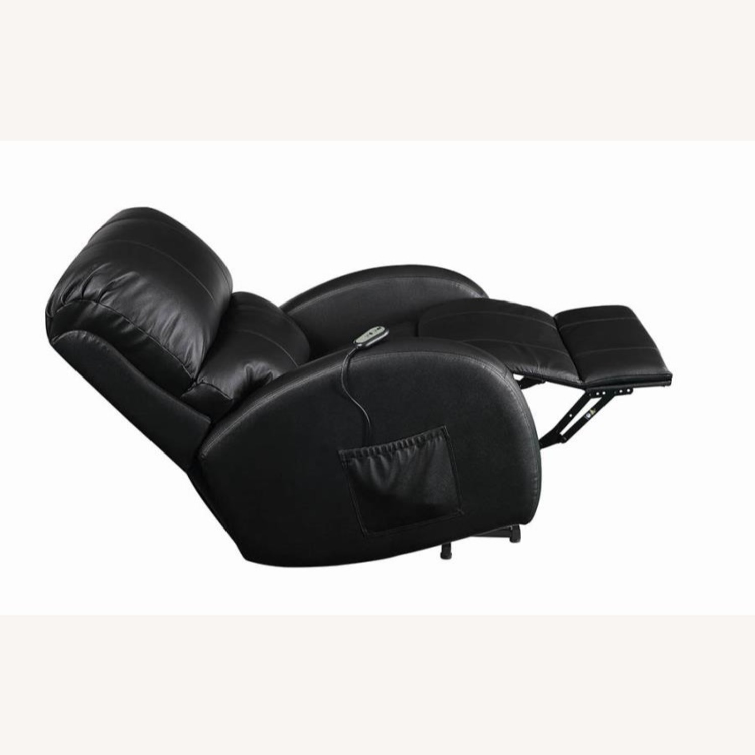 Power Lift Recliner In Black Top Grain Leather - image-3