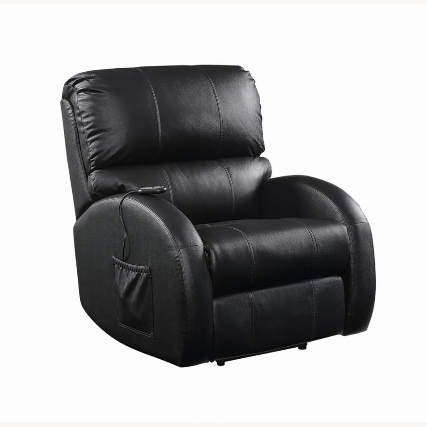 Power Lift Recliner In Black Top Grain Leather - image-0