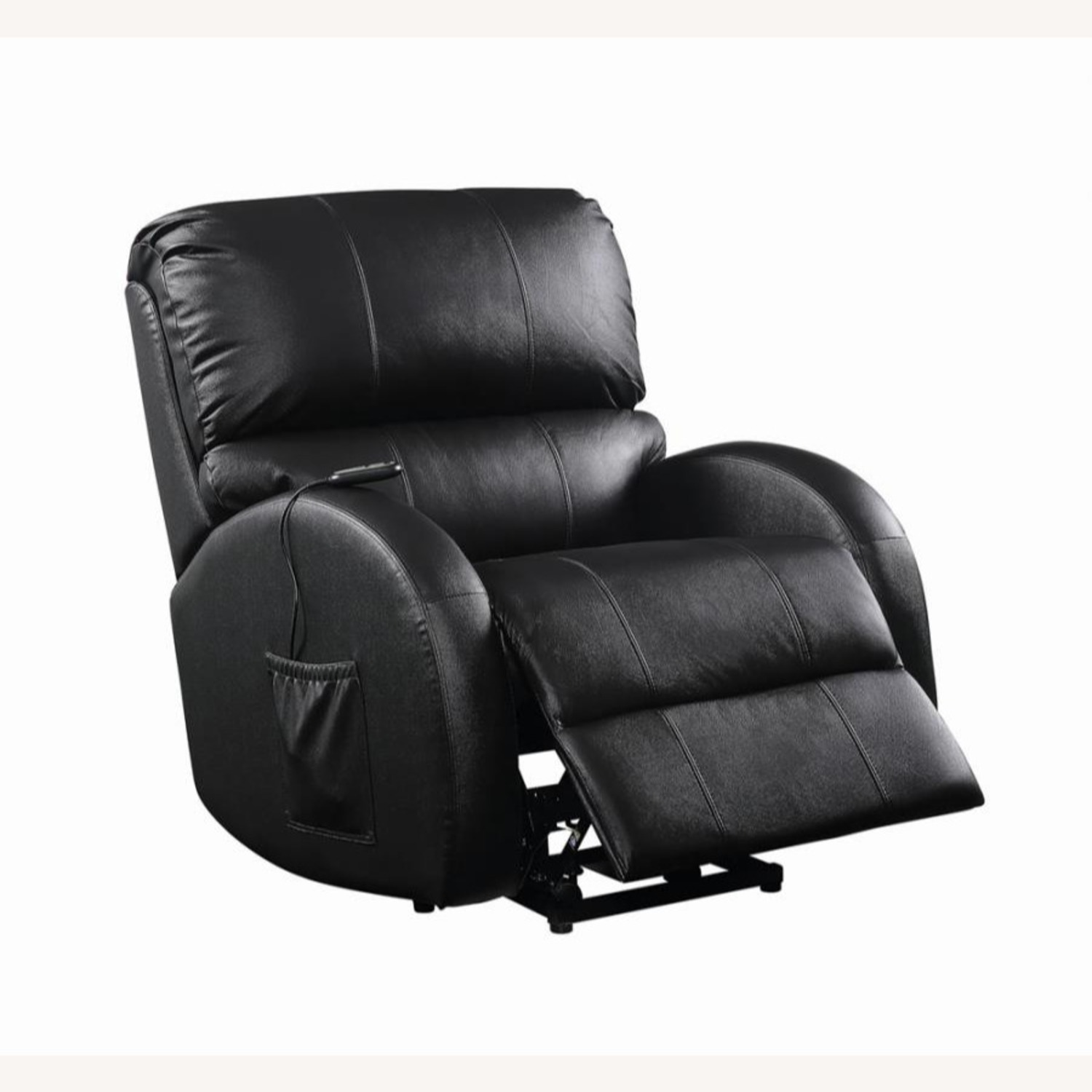 Power Lift Recliner In Black Top Grain Leather - image-1