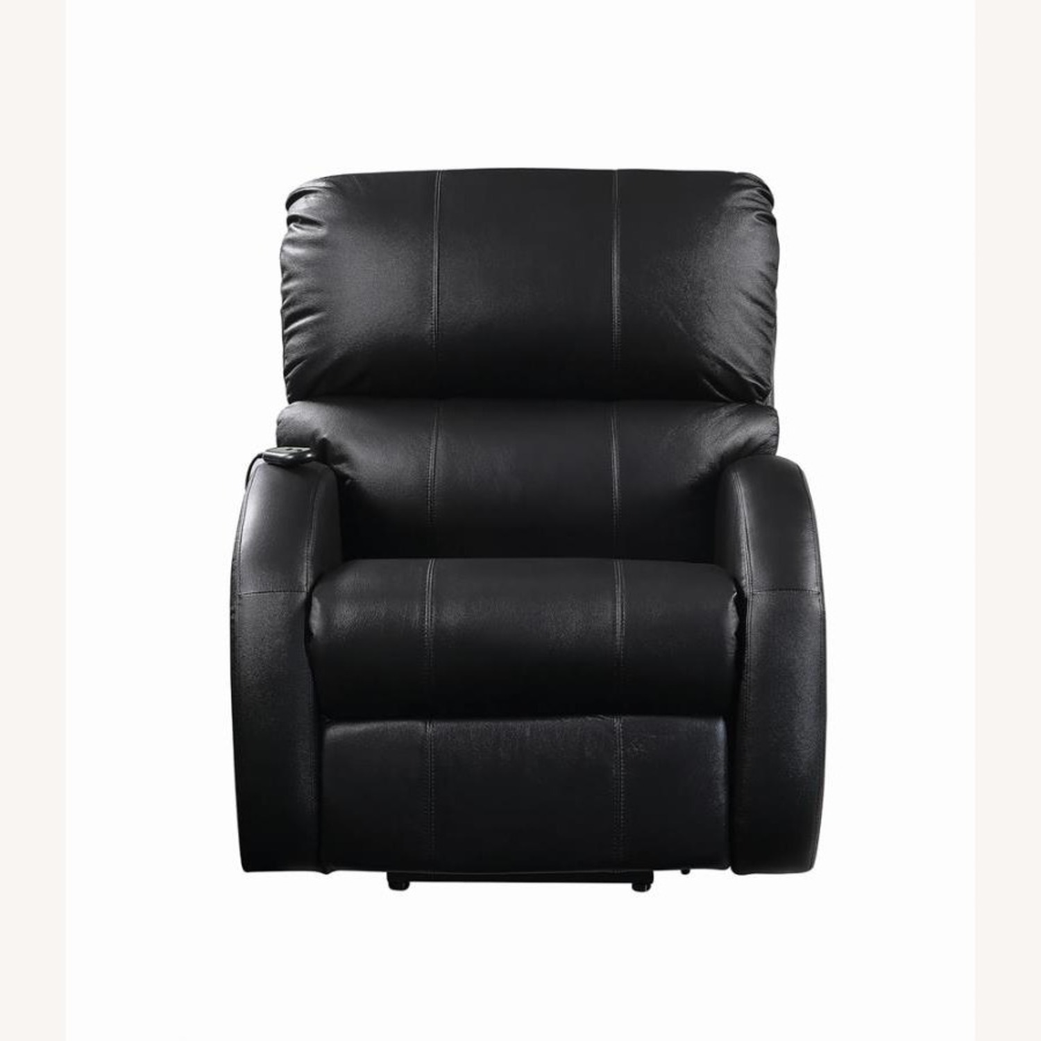 Power Lift Recliner In Black Top Grain Leather - image-4