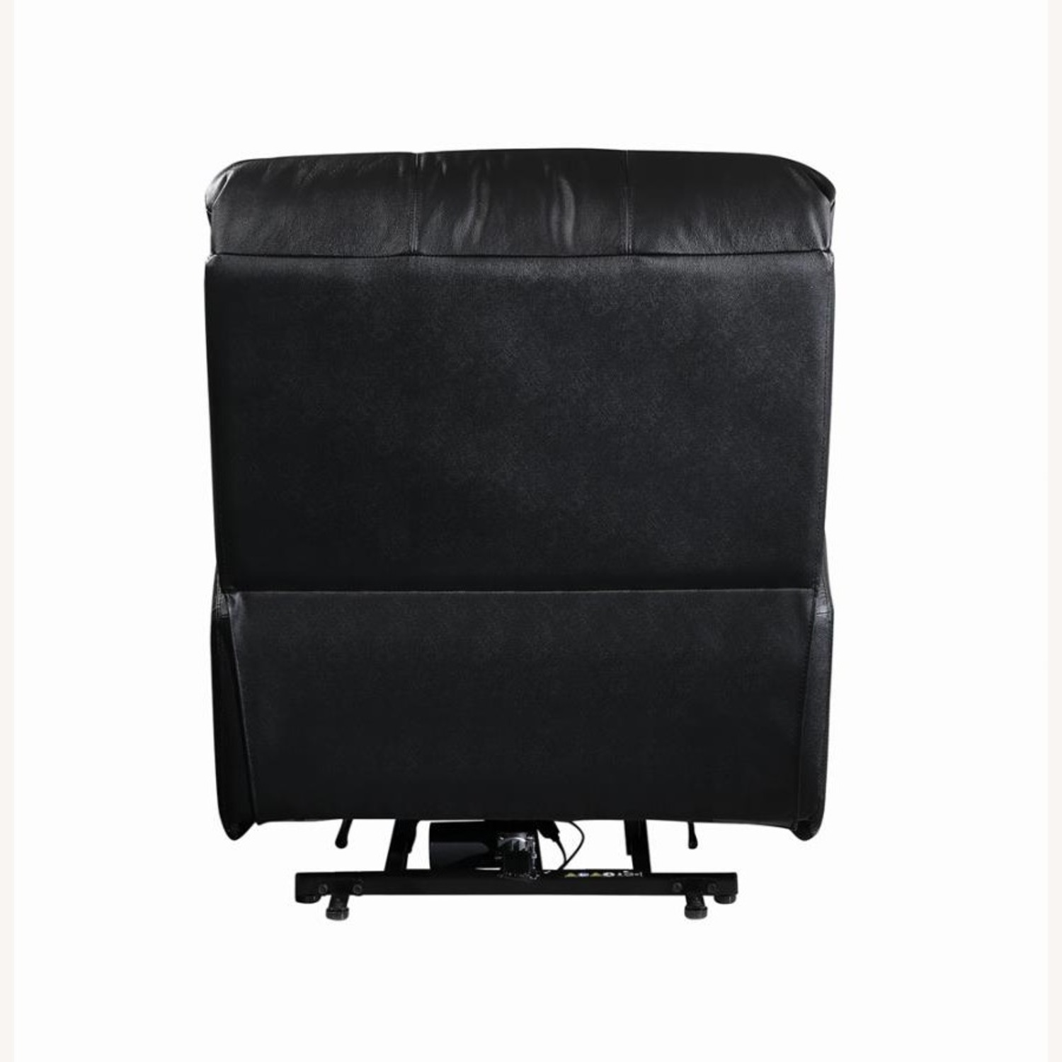 Power Lift Recliner In Black Top Grain Leather - image-5