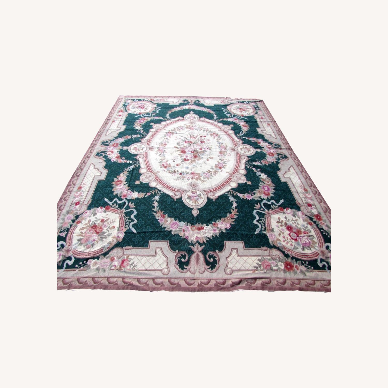 Handmade vintage French Aubusson rug - image-0