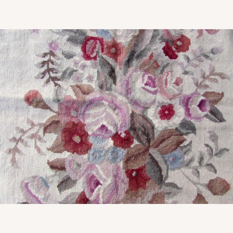 Handmade vintage French Aubusson rug - image-9